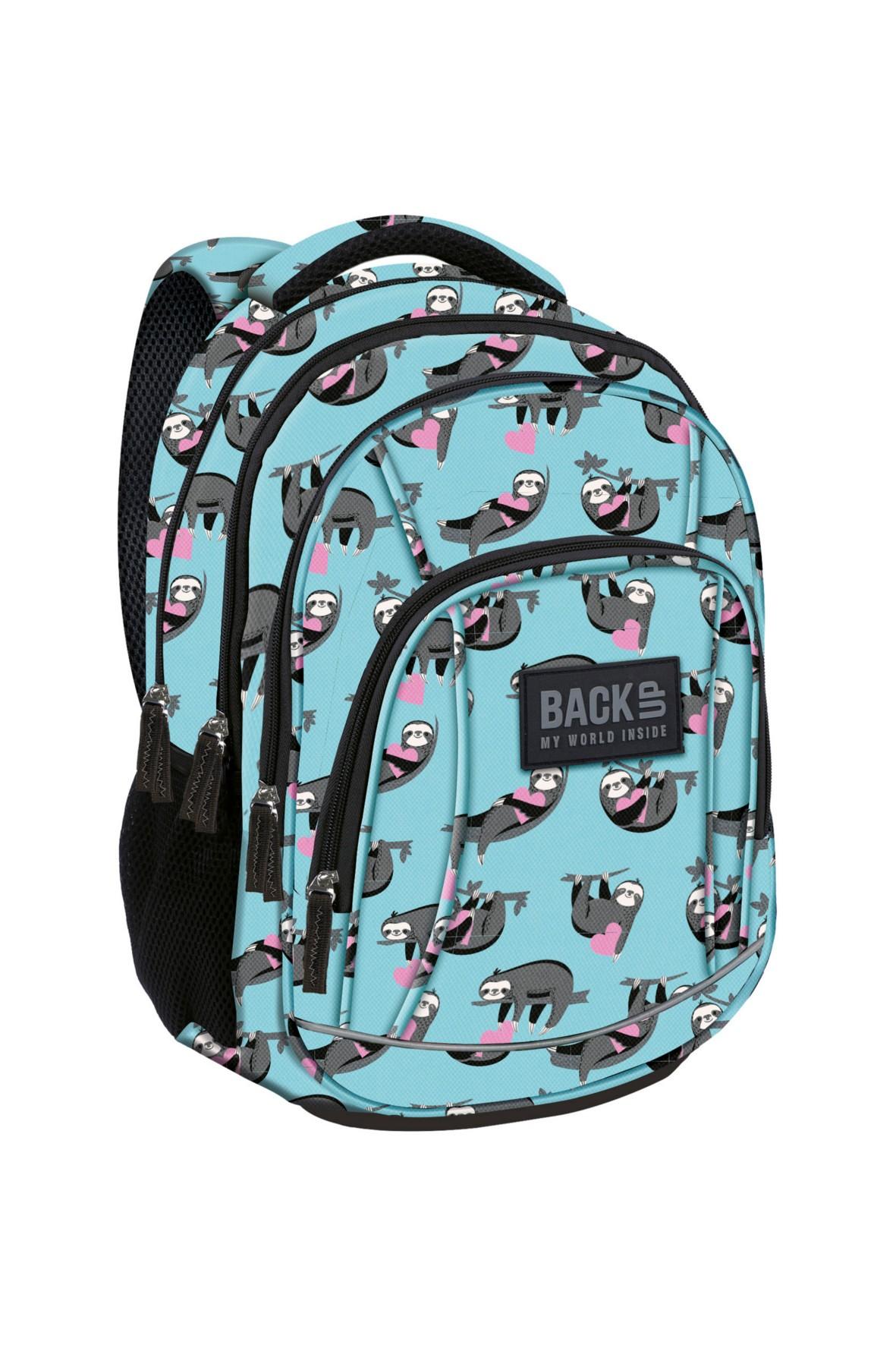 e08af78d90ad9 Plecak szkolny dla dziewczynki- niebieski w leniwce