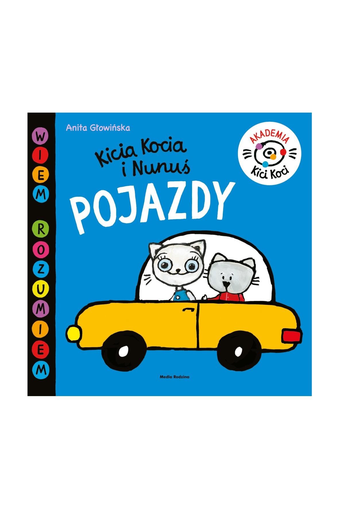 Książka dla dzieci - Pojazdy akademia Kici Koci wiek 2+