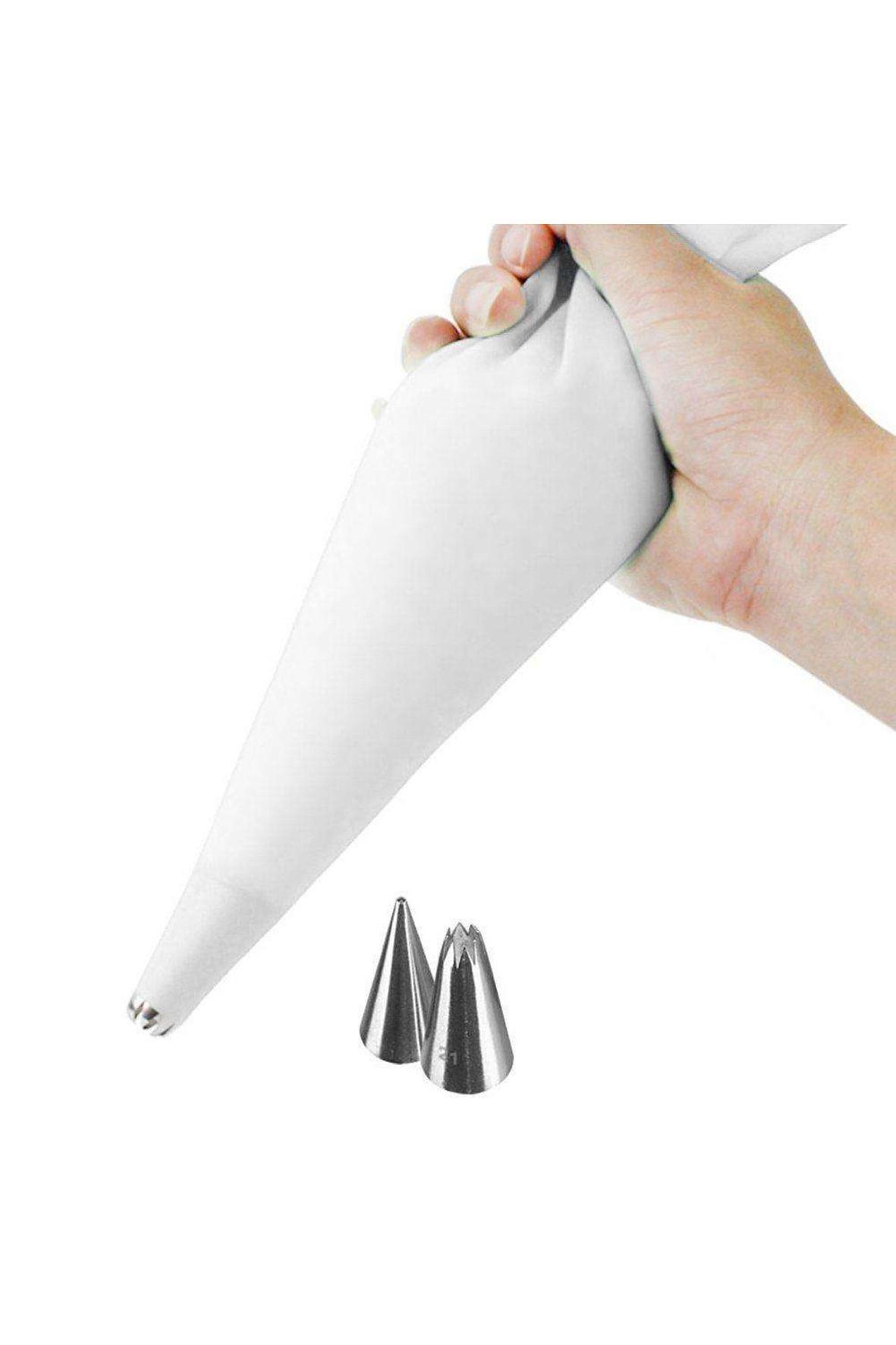 Rękaw cukierniczy silikonowy + tylki końcówki 2 sztuki