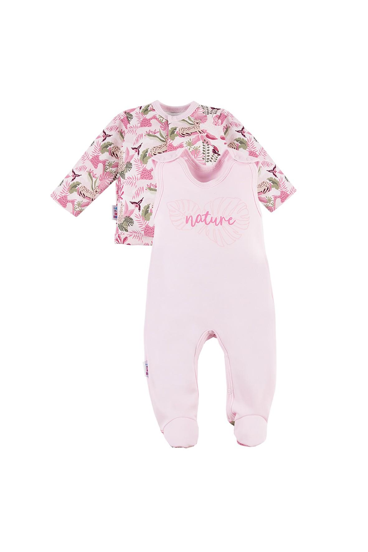 Komplet niemowlęcy NATURE różowy