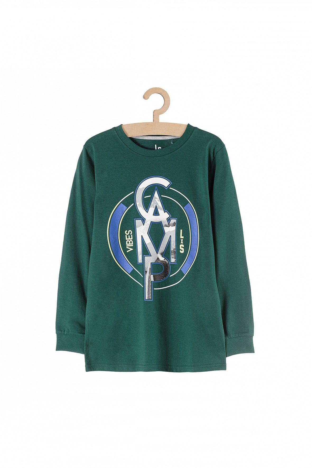 Bluza cienka dzianinowa dla chłopca- zielona Camp