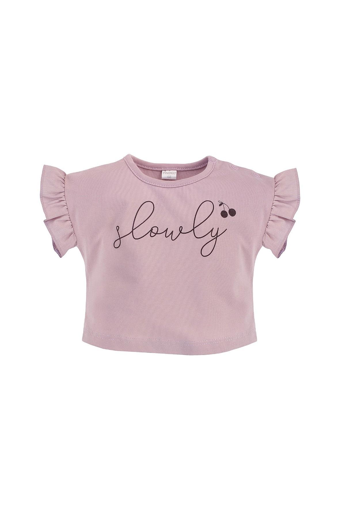 Dziewczęca bluzka typu oversize z miękkiej bawełny w pastelowym odcieniu różu
