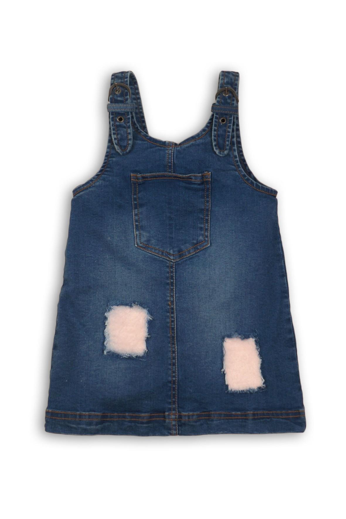 Sukienka dziewczęca jeansowa z łatami