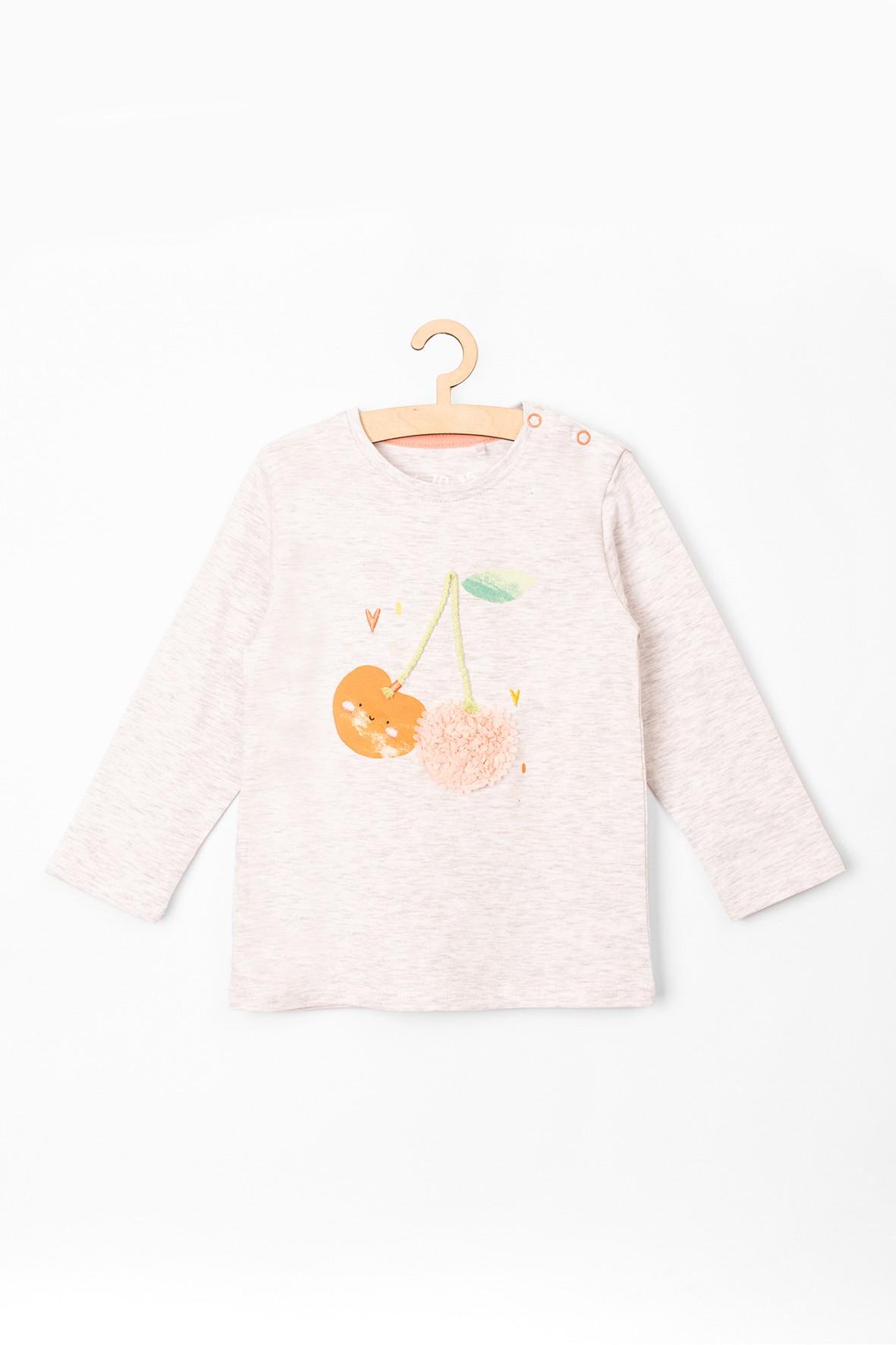 Bluzka niemowlęca z wisienkami 3D