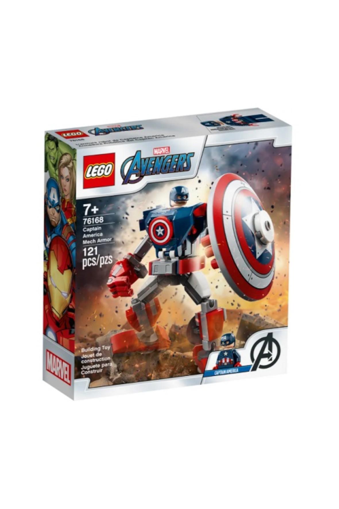 LEGO Super Heroes - Opancerzony mech Kapitana Ameryki - 121 elementów
