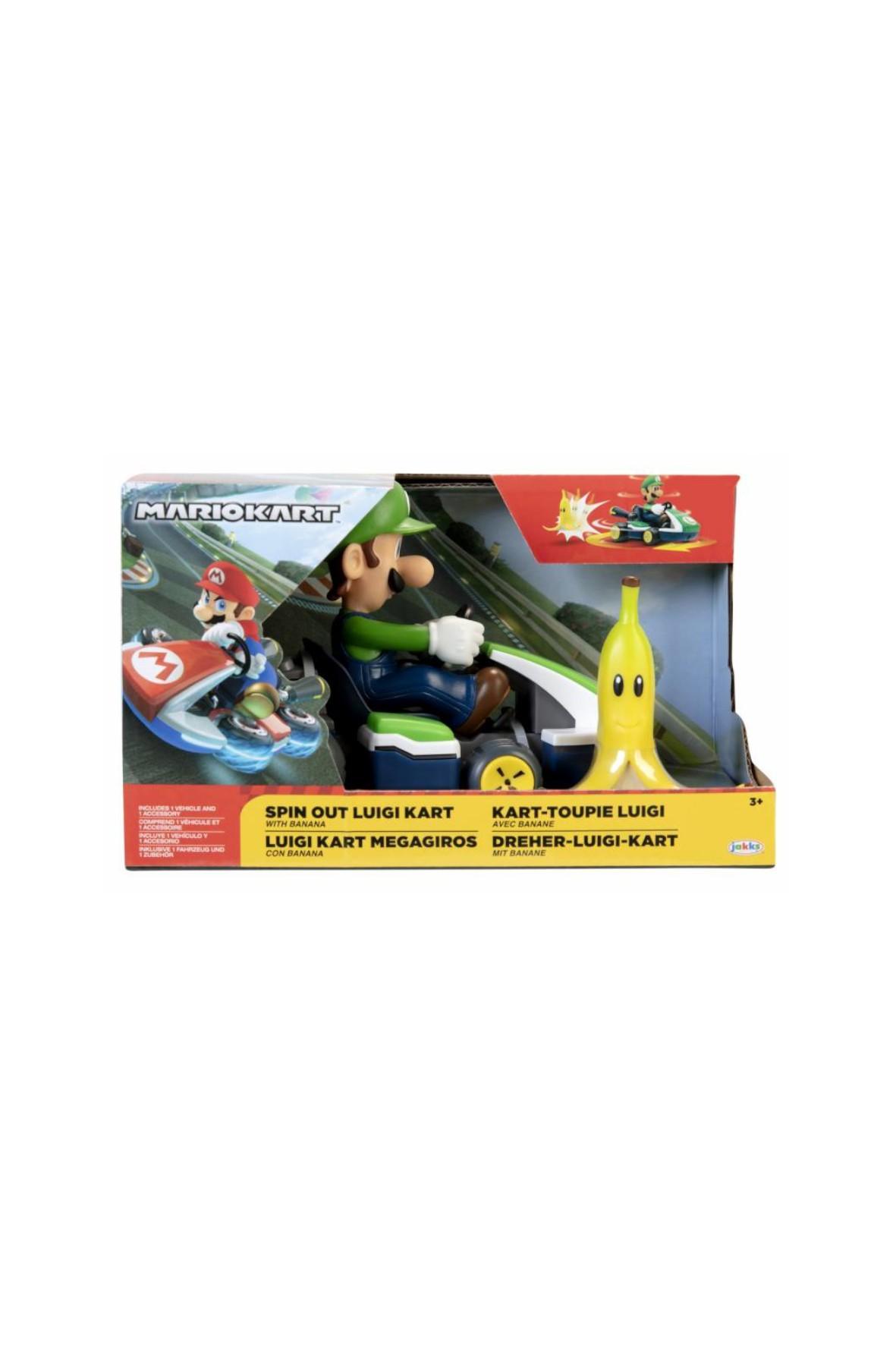 Super Mario Obracający się gokart Luigi