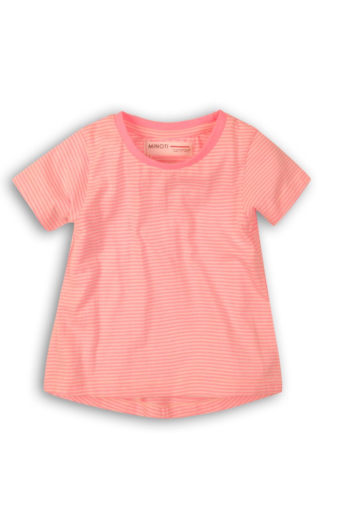 T-shirt dzianinowa dla dziewczynki- różowy w paski