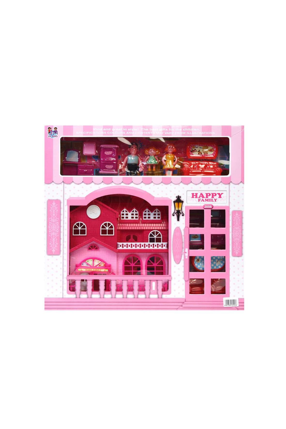 Domek zabawka różowy
