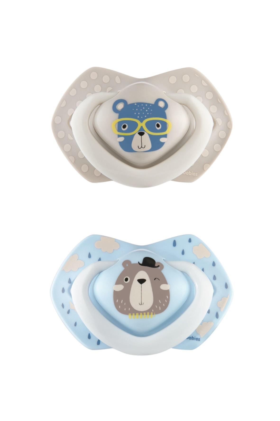 Canpol babies Smoczek silikonowy 0-6 m-cy symetryczny BONJOUR PARIS - 2szt.