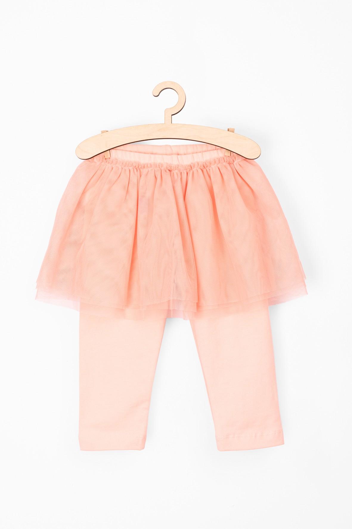Leginsy niemowlęce różowe z tiulową spódniczką