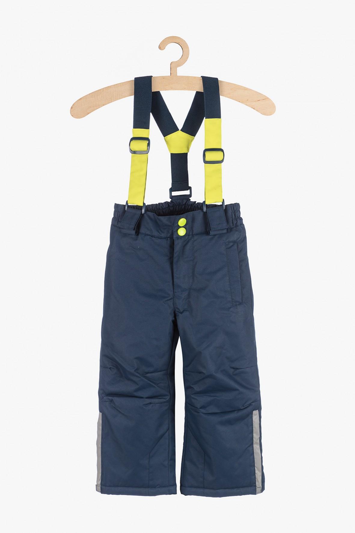 Spodnie narciarskie z elementami odblaskowymi- granatowe