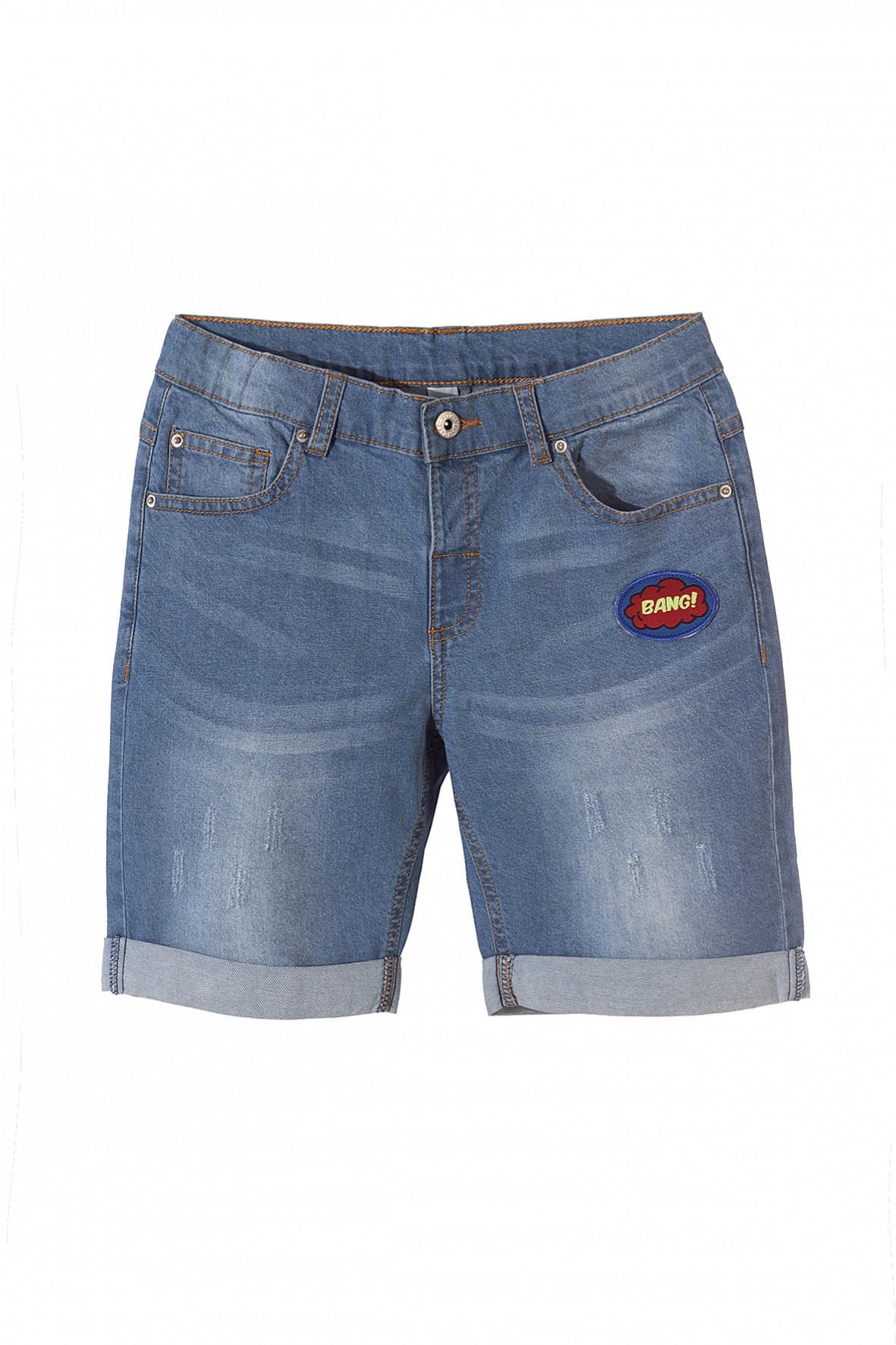 Szorty jeansowe, niebieskie z delikatnymi przetarciami