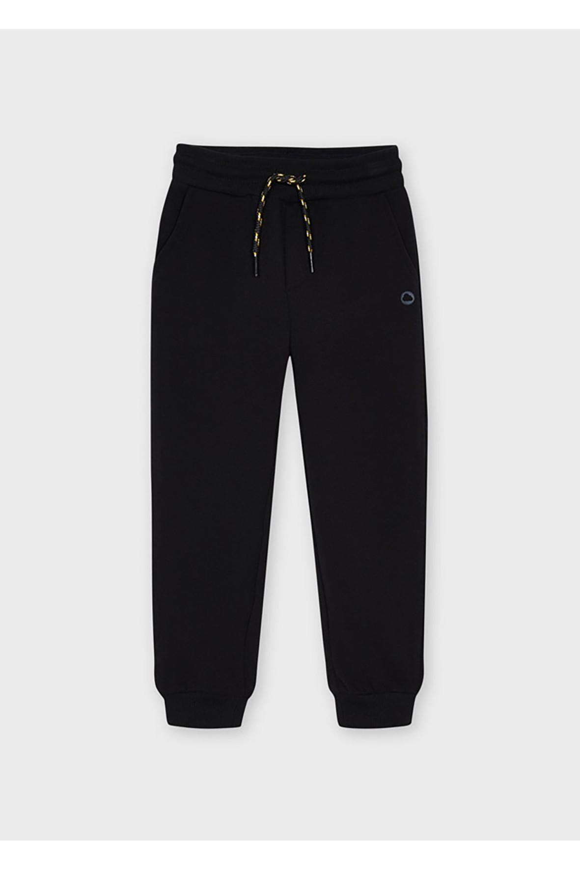 Długie chłopięce spodnie  dresowe - czarne