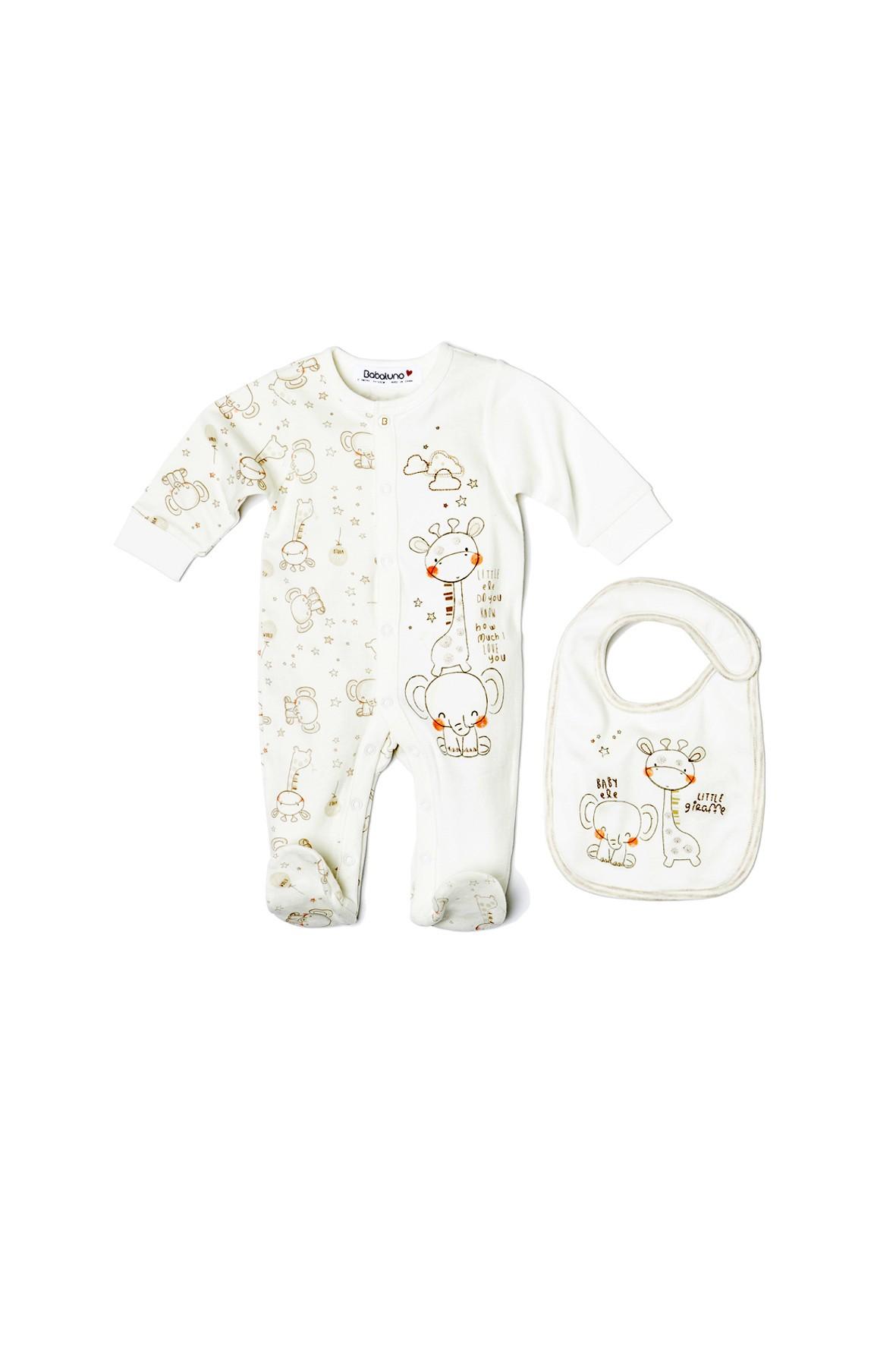Komplet niemowlęcy pajac+śliniak  5P33AH