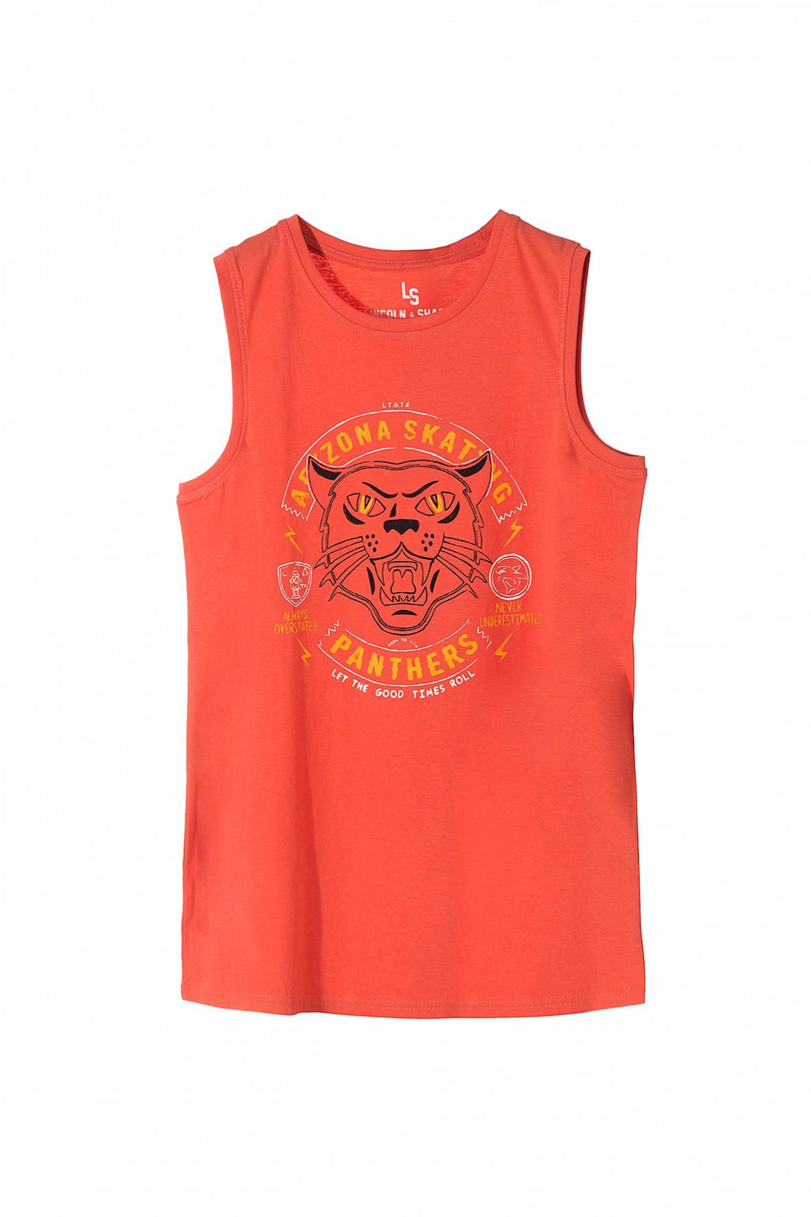Bluzka na lato dla chłopca- pomarańczowa