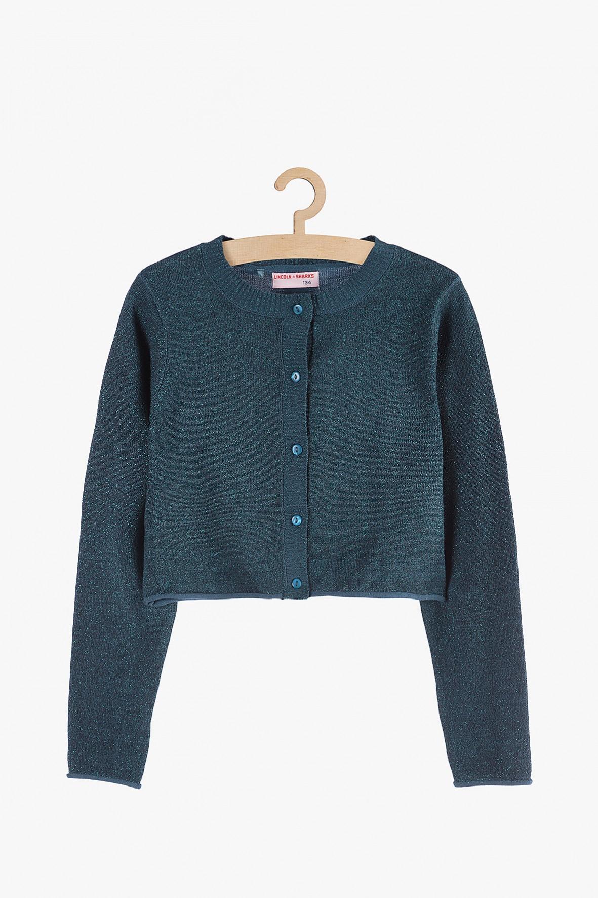 Elegancki-granatowy sweter dla dziewczynki