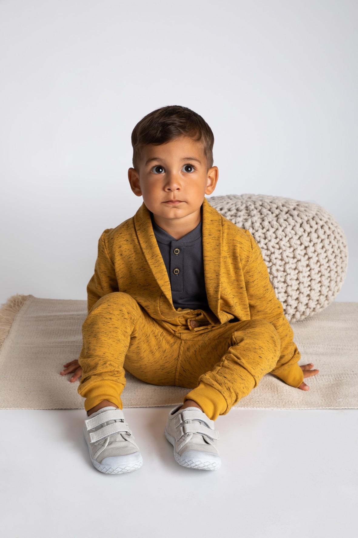 Bluza dresowa chłopięca-musztardowa