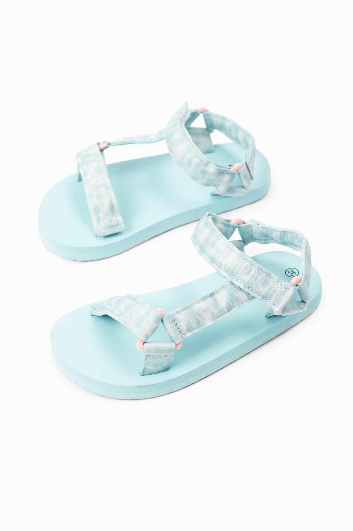Sandały dziewczęce zapinane na rzepy