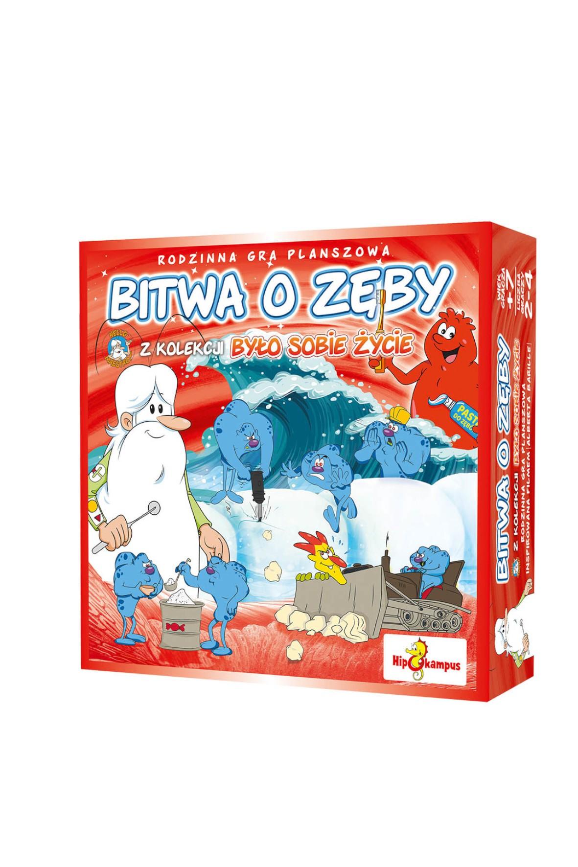 Gra planszowa - Bitwa o zęby wiek 7+