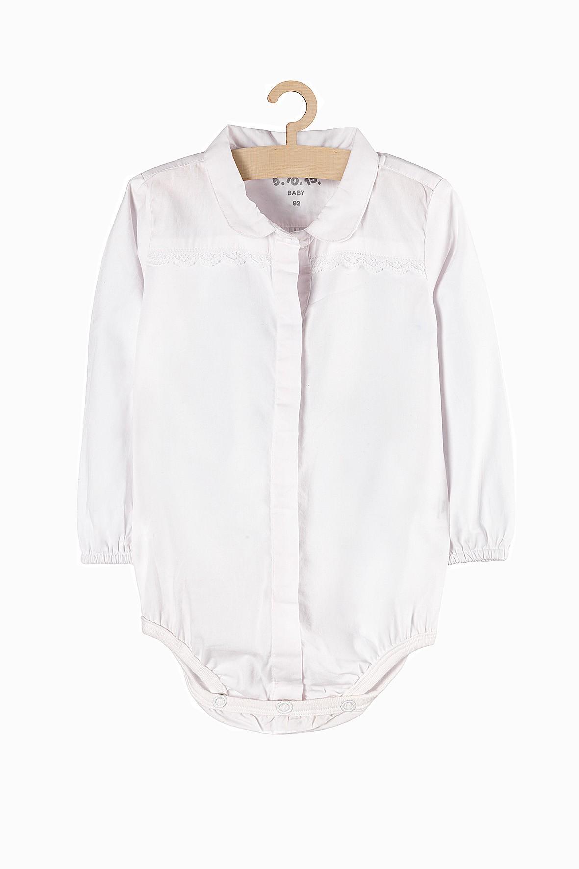 Body niemowlęce białe koszulowe dla dziewczynki
