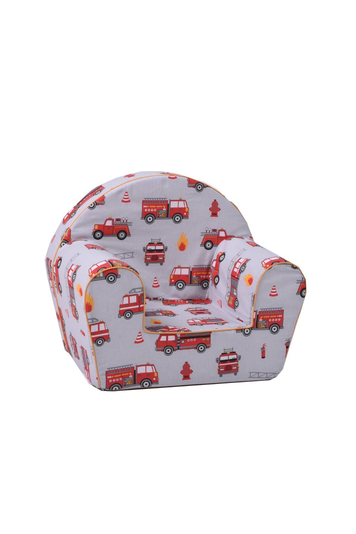 Szary fotelik z czerwone samochody