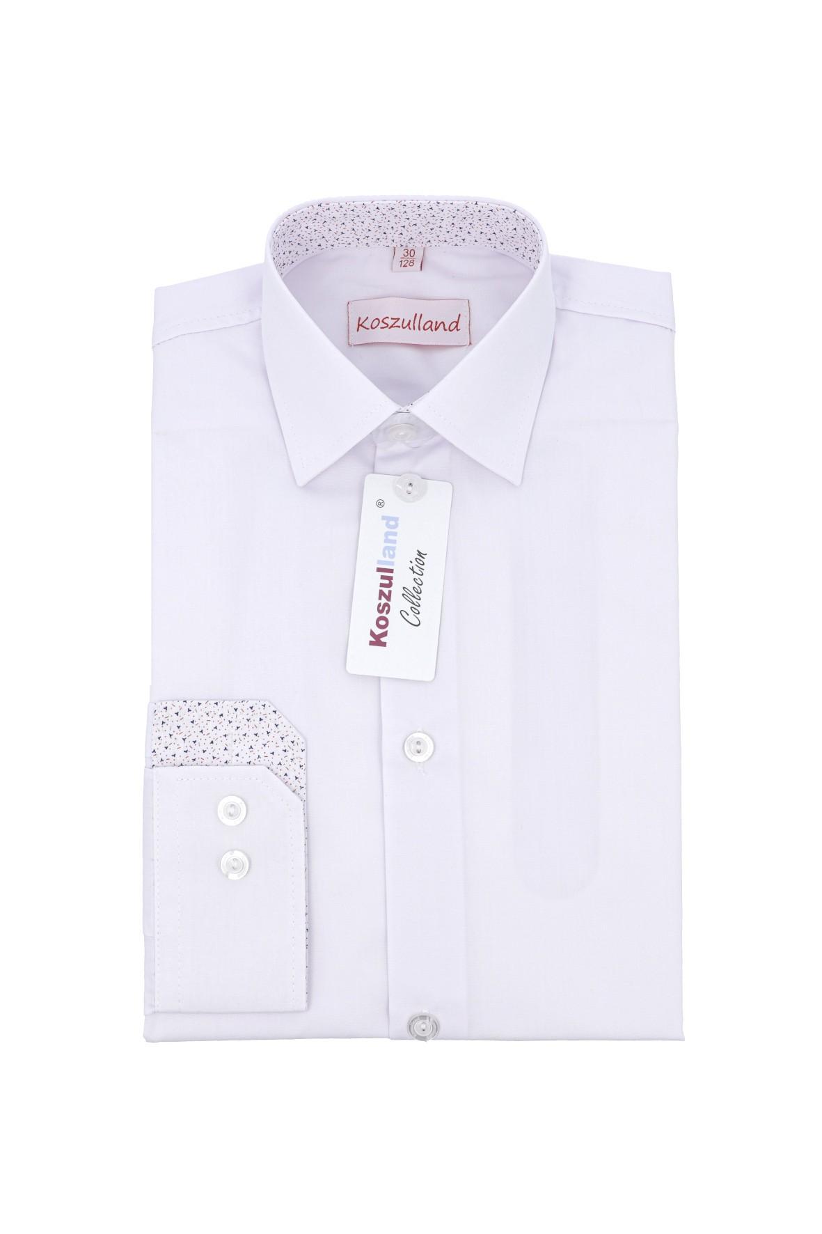 Elegancka koszula dla chłopca- biała z długim rękawem