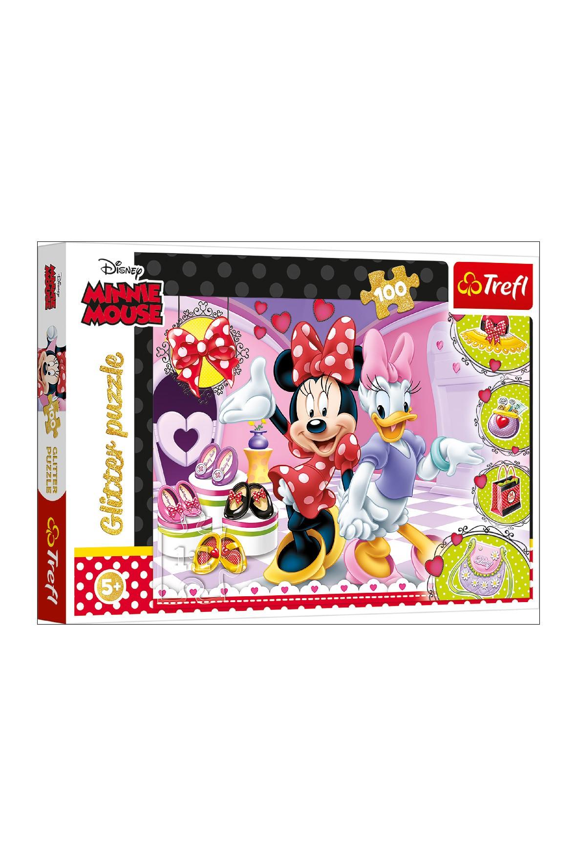 Puzzle 100 elementów- Minnie i błyskotki Disney wiek 5+