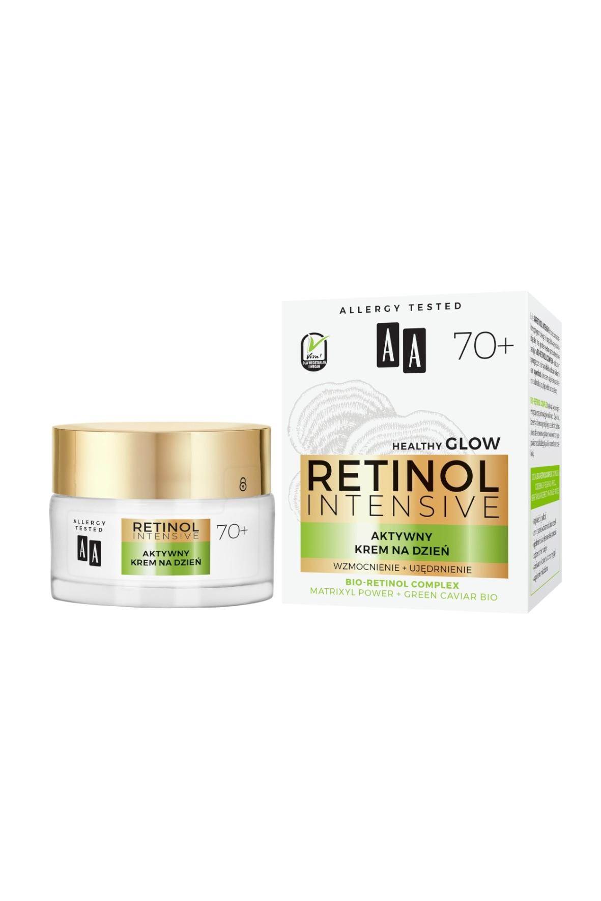 AA Retinol Intensive 70+ aktywny krem na dzień wzmocnienie+ujędrnienie 50 ml