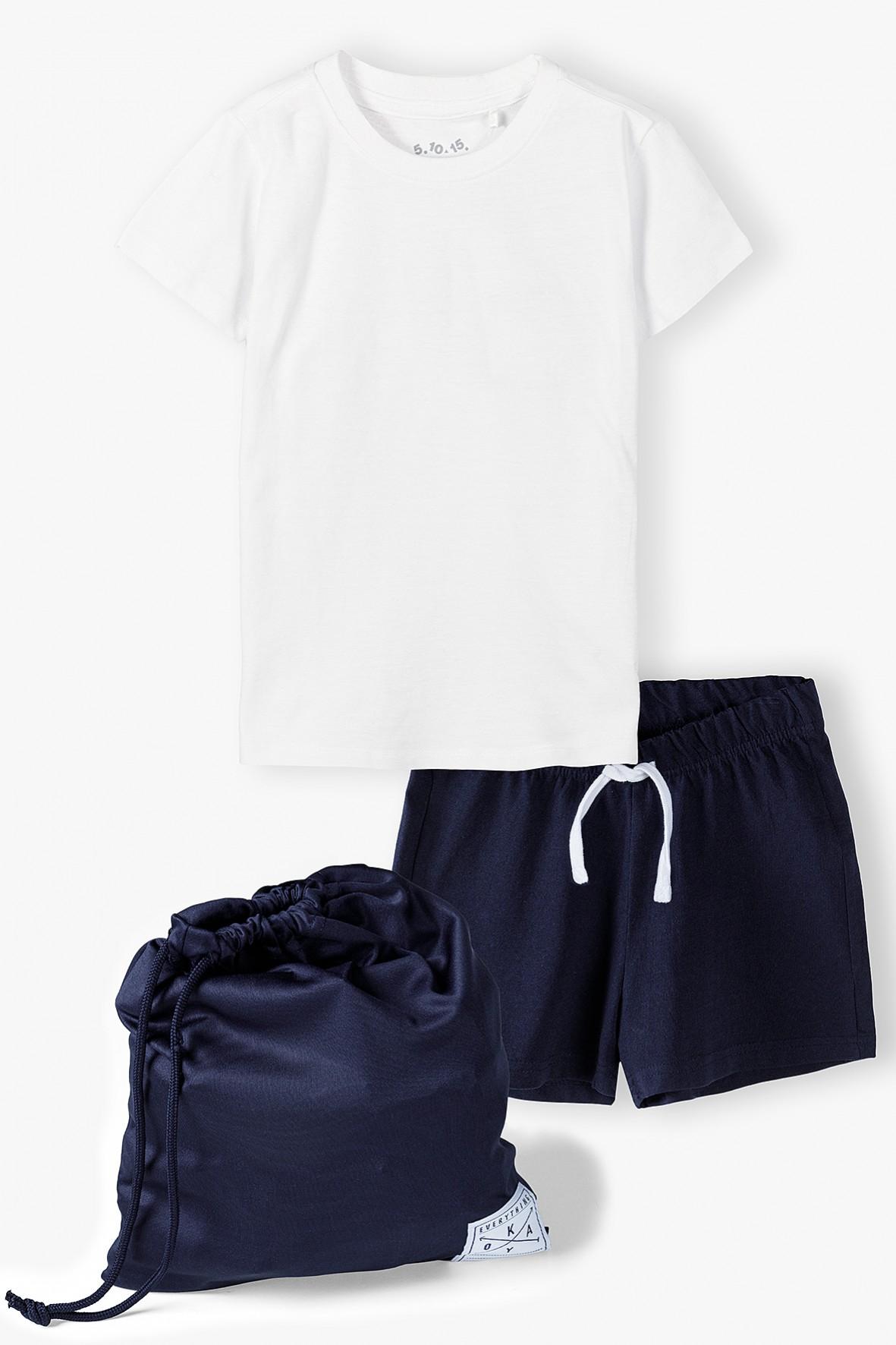 Komplet gimnastyczny - tshirt - spodenki - worek