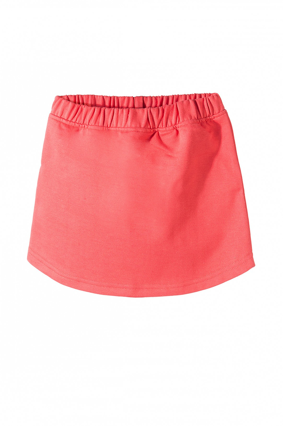 d94b0e11ee Spódniczka dziewczęca w kolorze brzoskwiniowym- wykonana z miękkiej ...