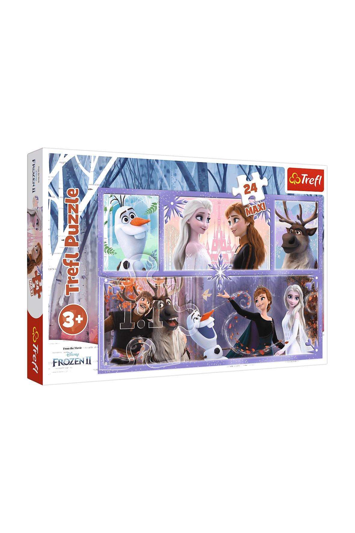 Puzzle 24 Maxi- Świat pełen magii Frozen 2 wiek 3+