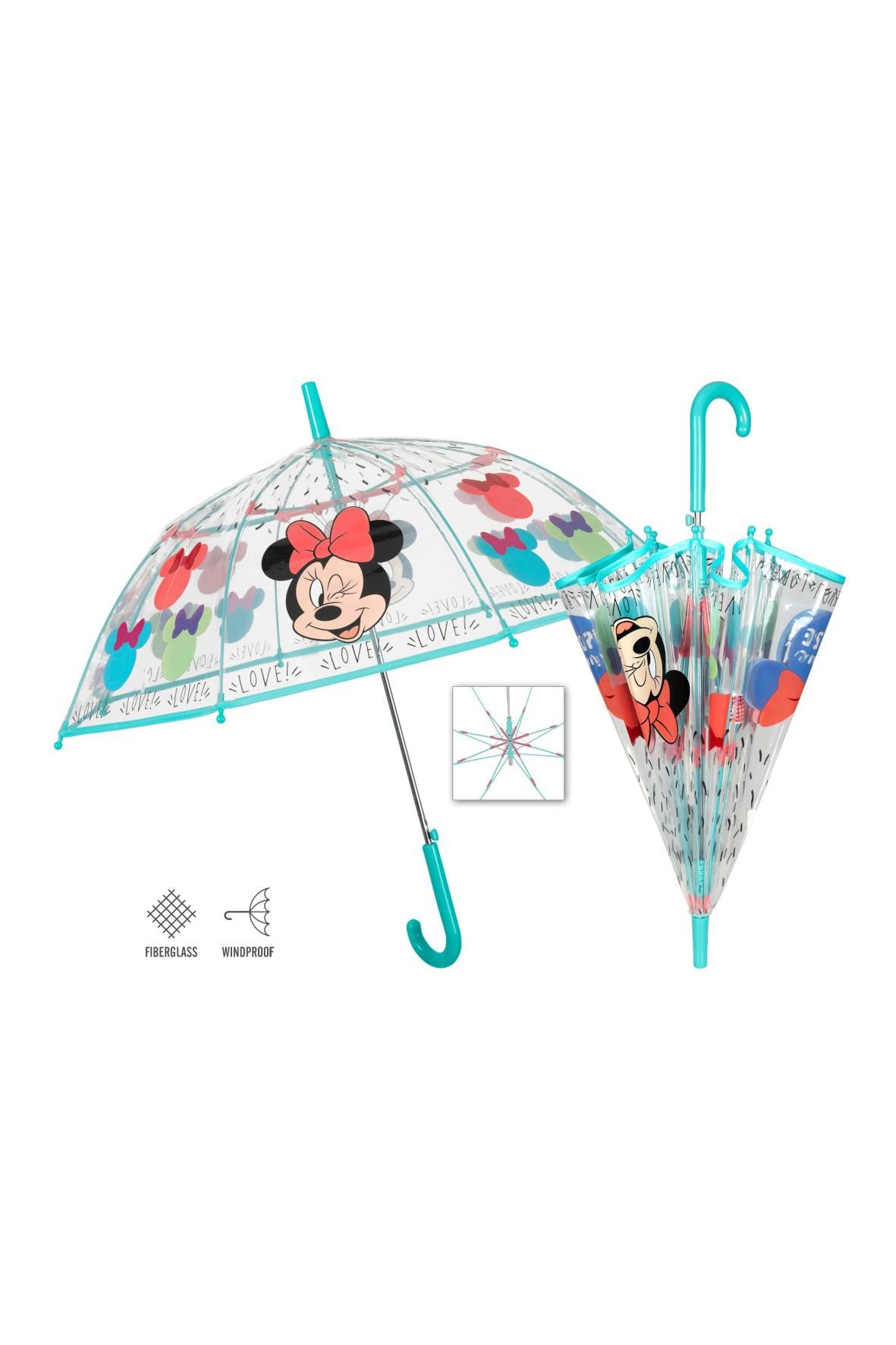 Transparentna parasolka Minnie