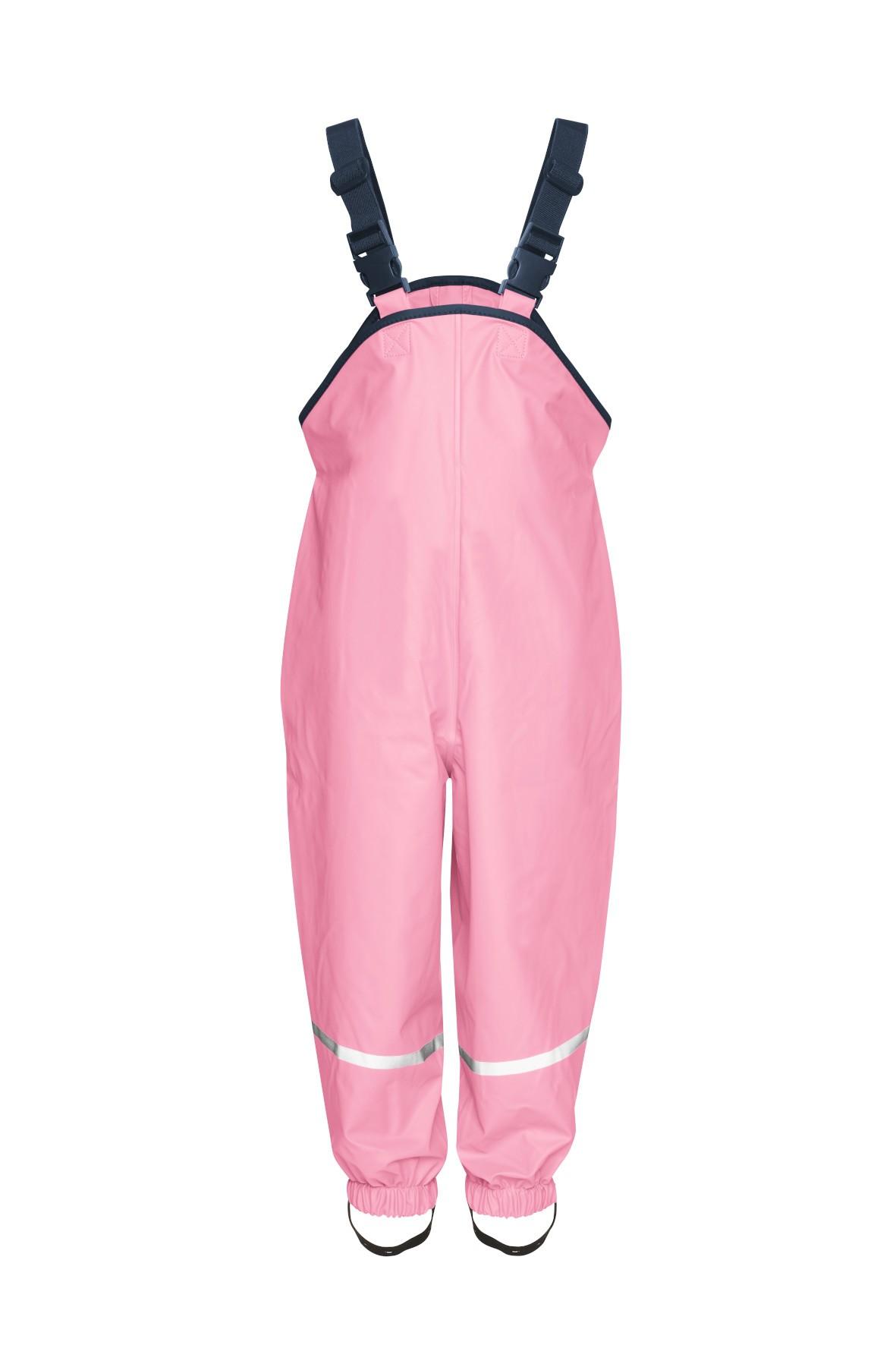 Spodnie przeciwdeszczowe z odblaskami dla dziewczynki