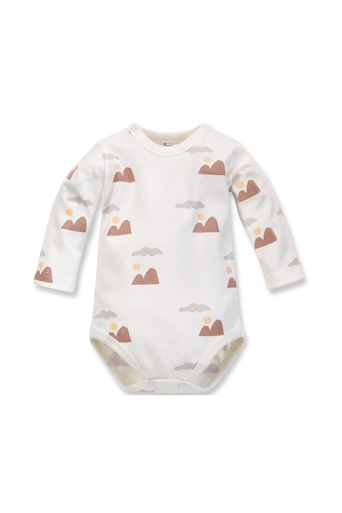 Bawełniane body niemowlęce z długim rękawem- wyprawka