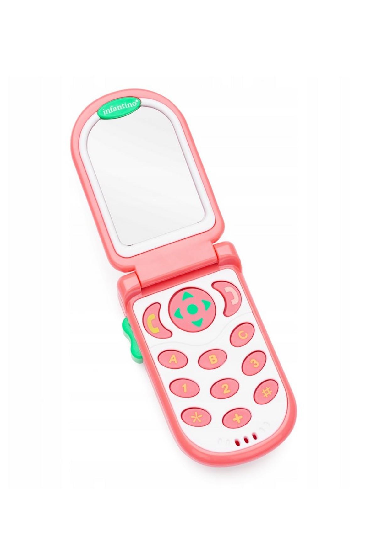 Pierwszy telefon malucha koralowy- zabawka edukacyjna