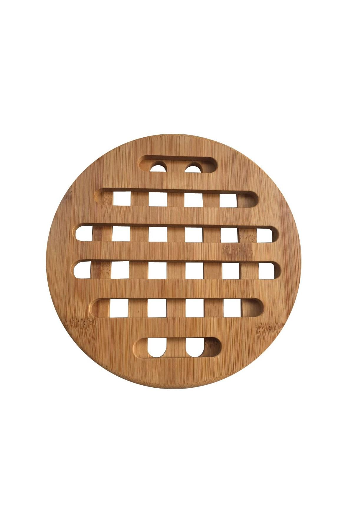 KINGHOFF Podstawki bambusowe okrągłe 2 szt