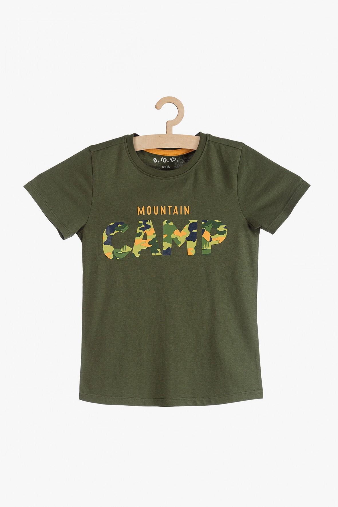 Bluzka z krótkim rękawem Mountain Camp-zielona