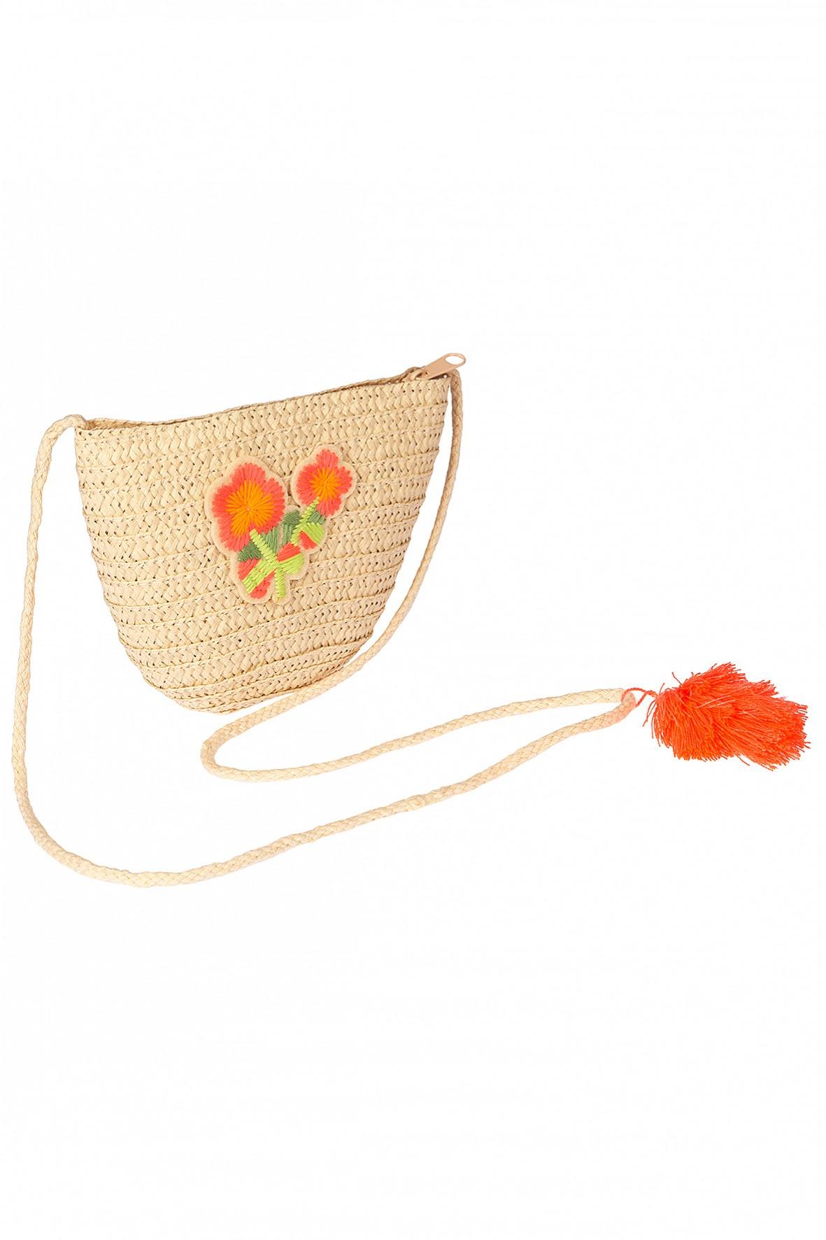 Torebka dla dziewczynki- haftowane kwiatki