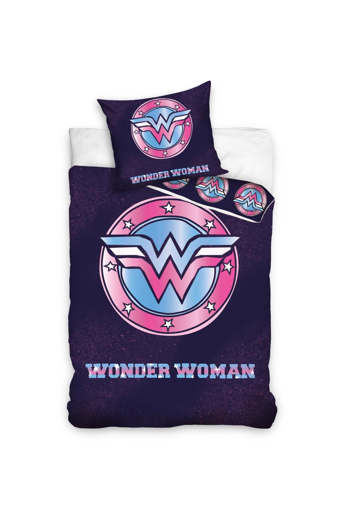 Komplet pościeli  Wonder Woman  160x200+70x80 cm