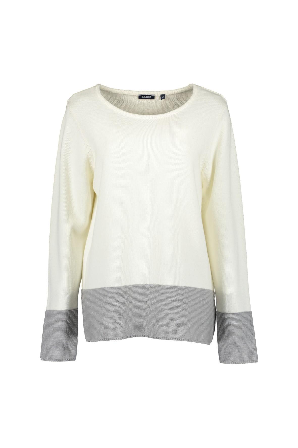 Damski sweter z dzianiny - ecru