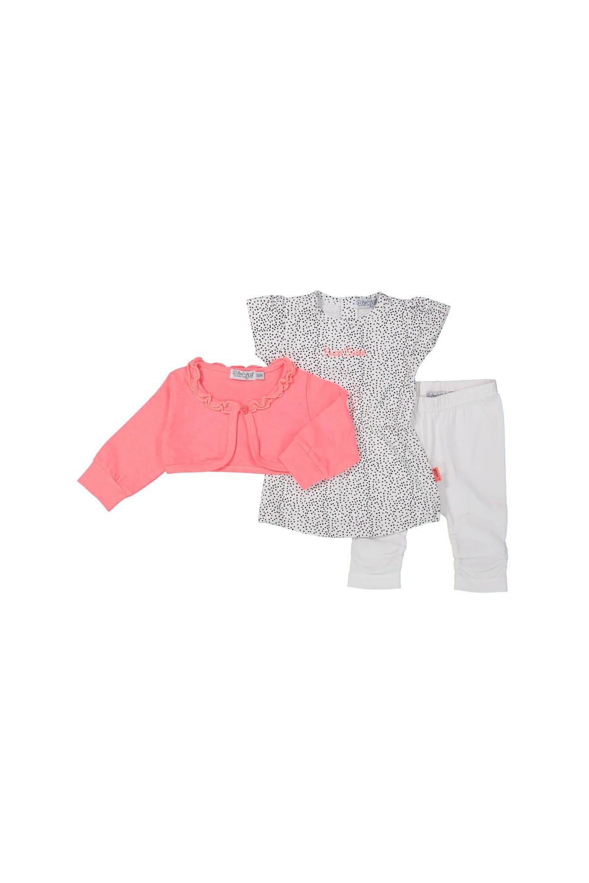 Komplet ubrań dla niemowlaka bolerko tunika i leginsy