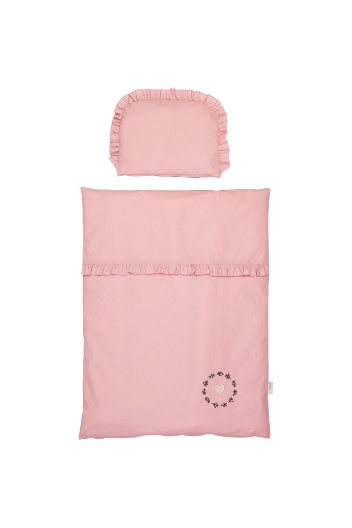 Różowa pościel z wypełnieniem - 80x60 cm