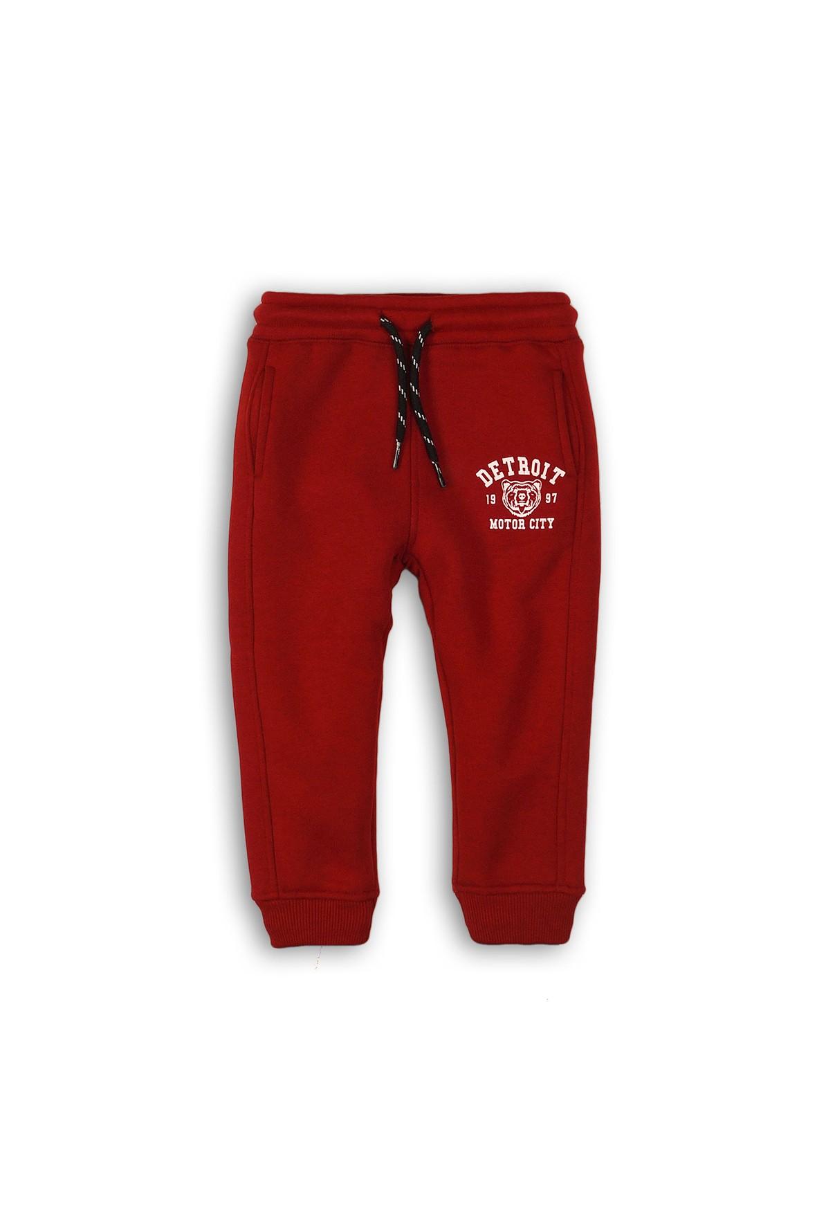 Dresowe spodnie dla niemowlaka- bordowe