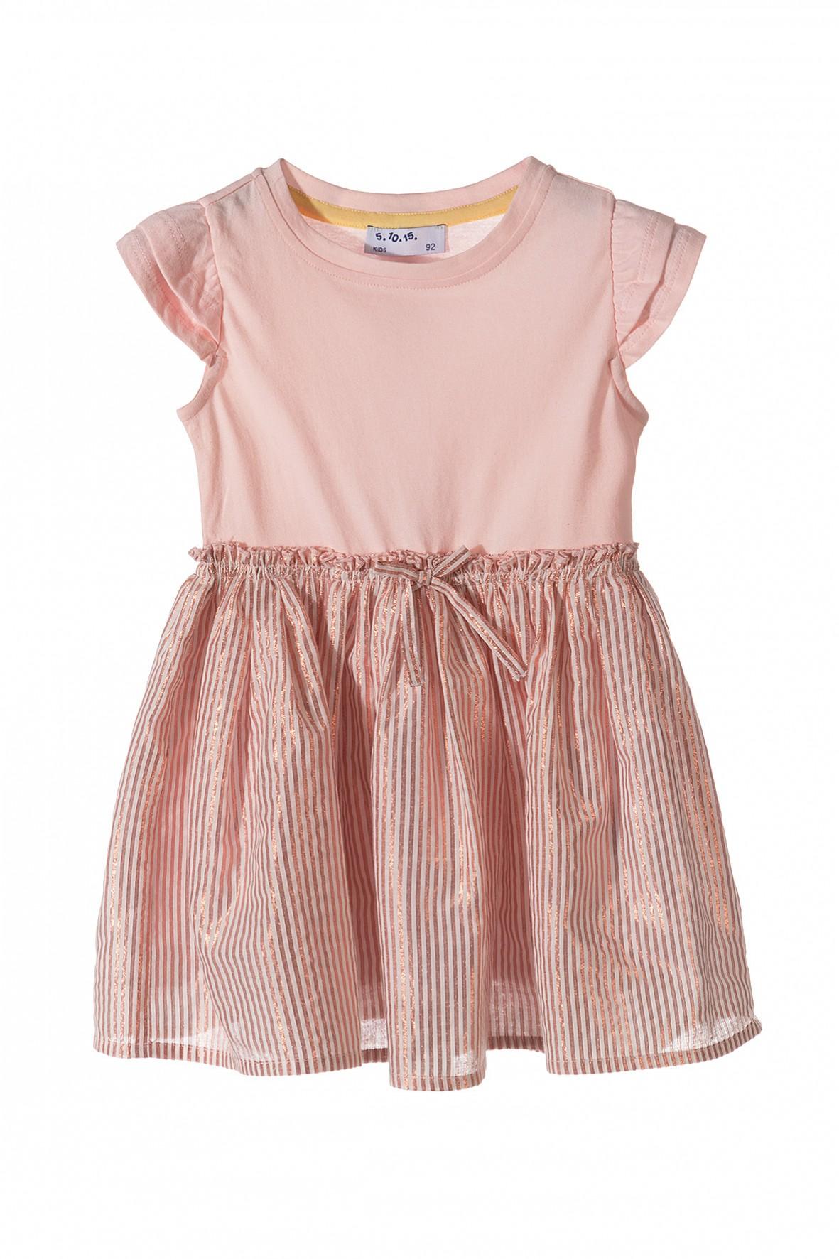 f6e3c972a5 Sukienka dziewczęca z połyskującą tkaninową falbanką ...