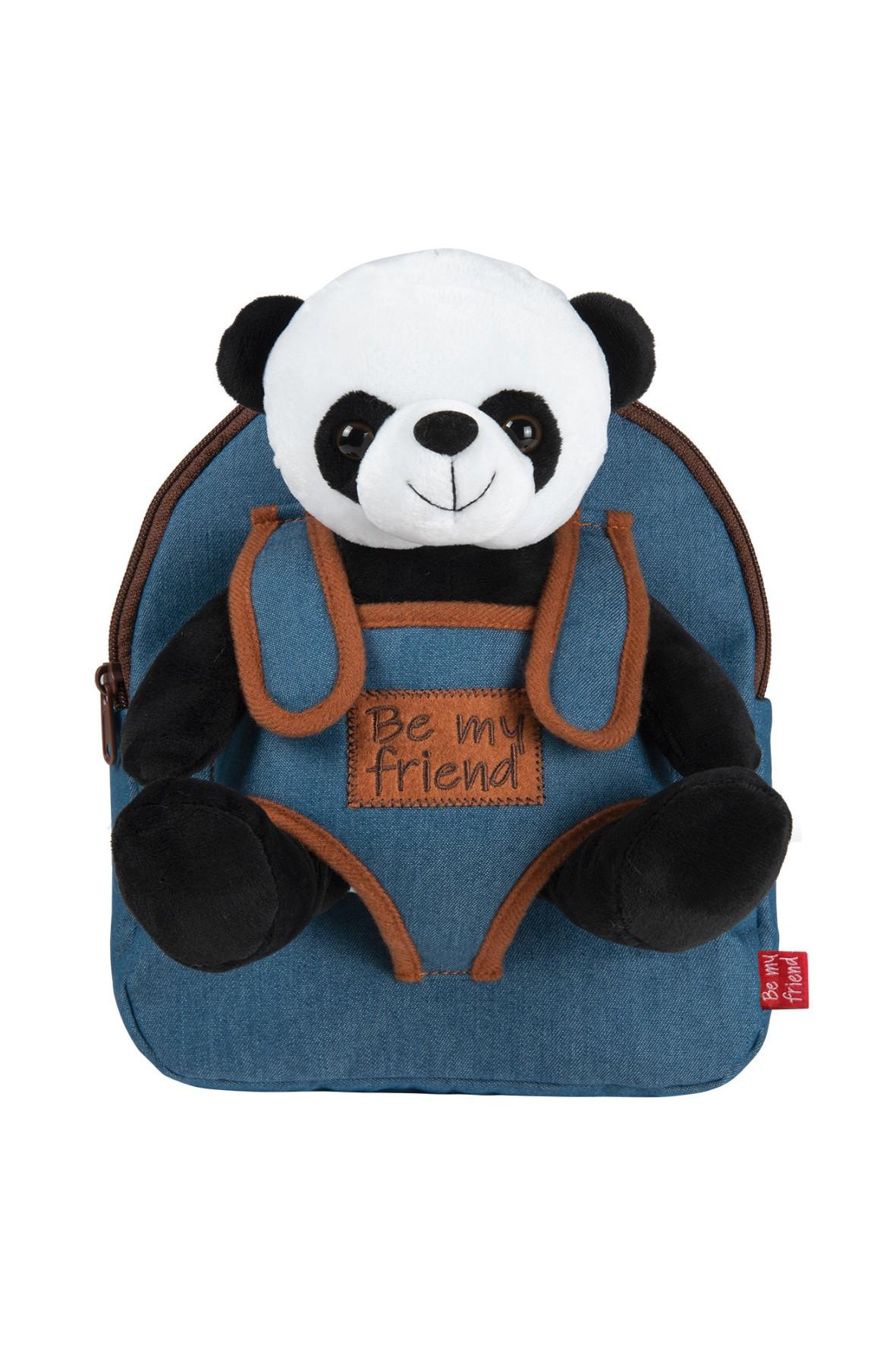 Plecak Denim z przytulanką - Paul Panda wiek 2+