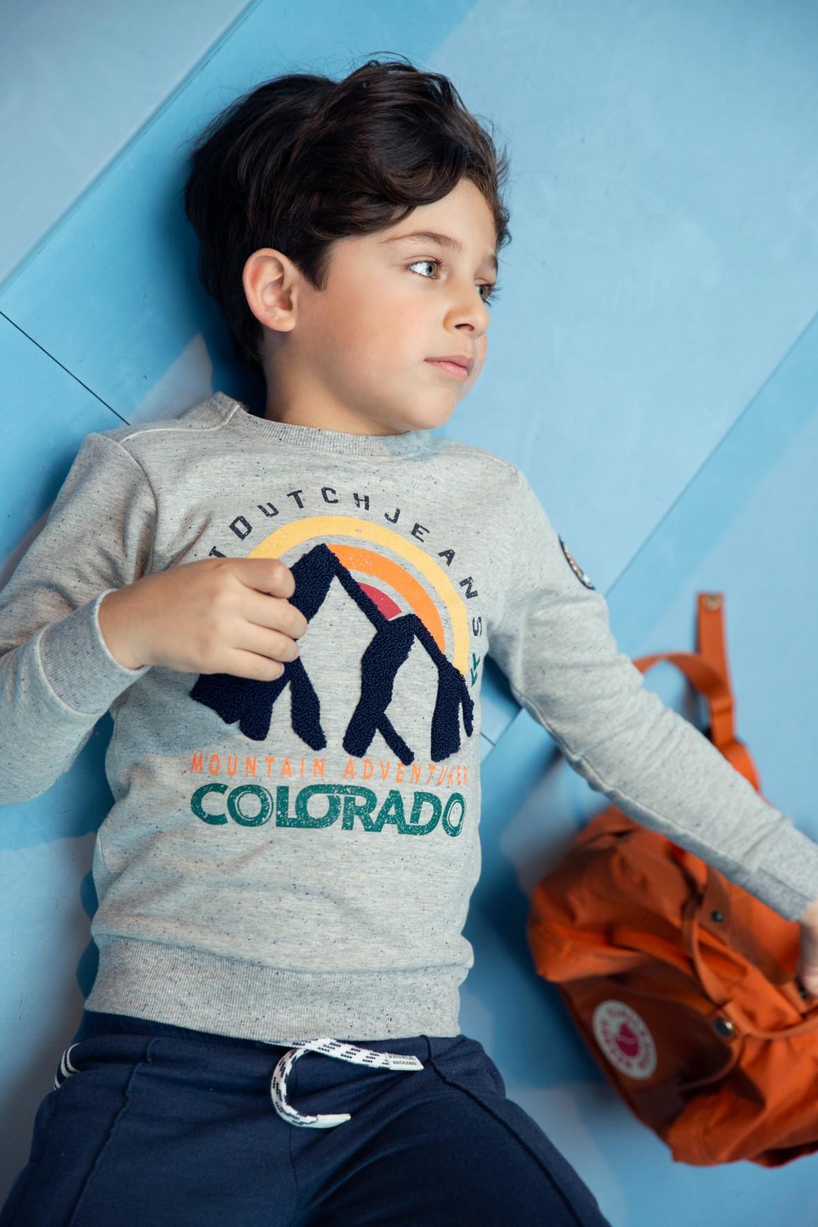 Bluza dresowa chłopięca szara Colorado
