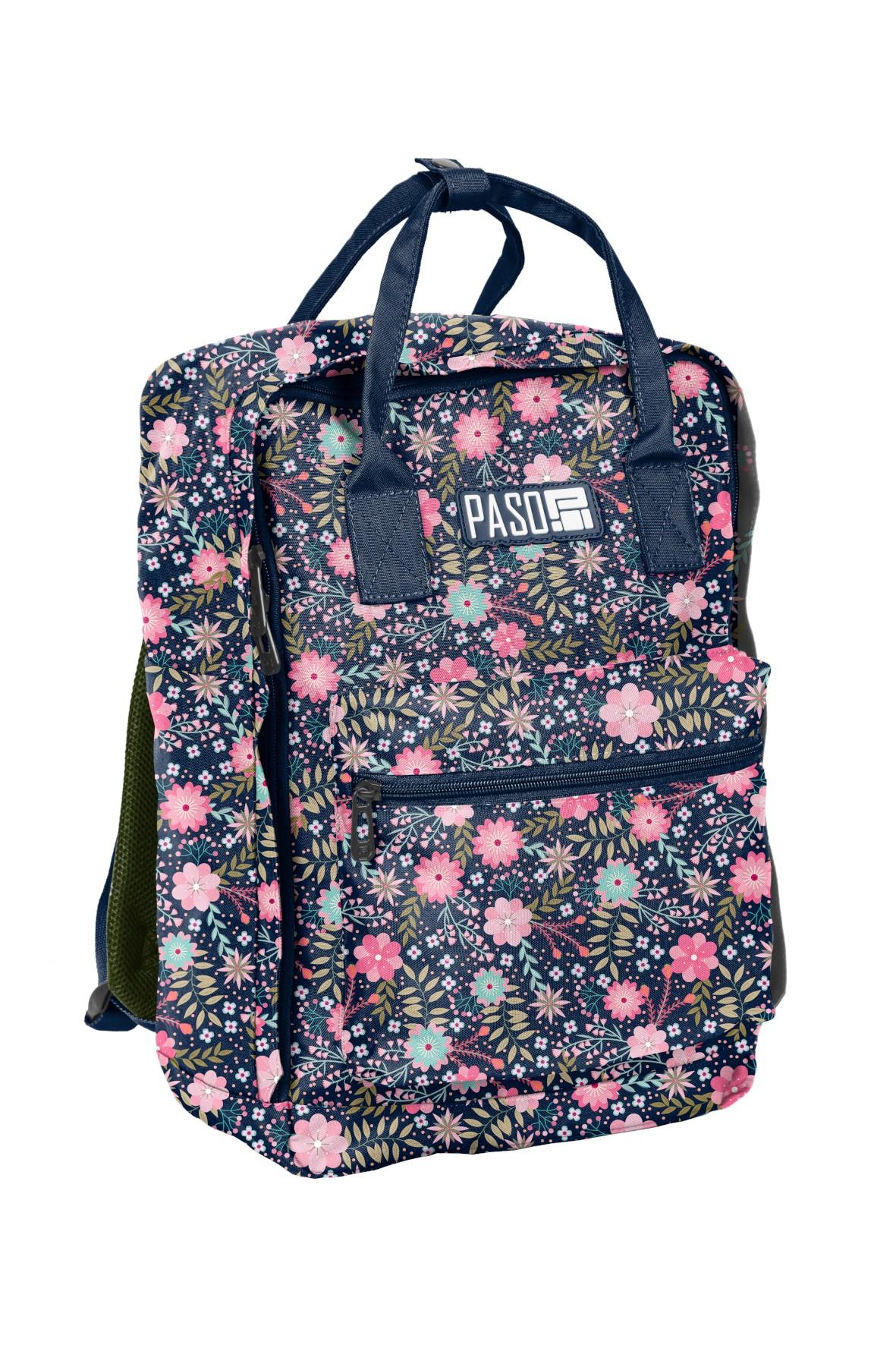 Plecak młodzieżowy PASO w kwiaty