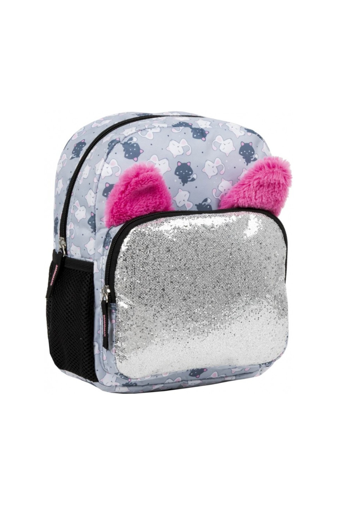 Plecak dziewczęcy Glossy Gray