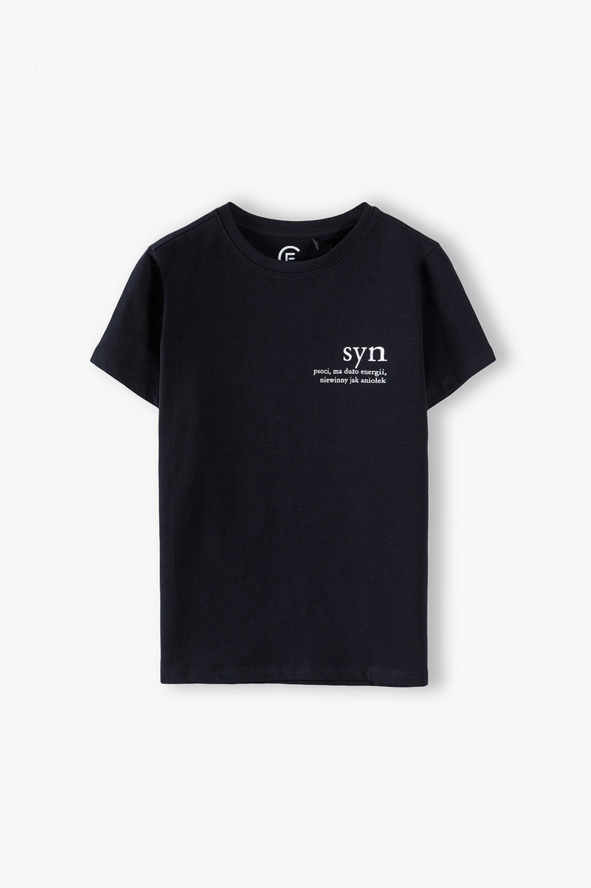 Bawełniany t-shirt chłopięcy SYN- ubrania dla rodziny