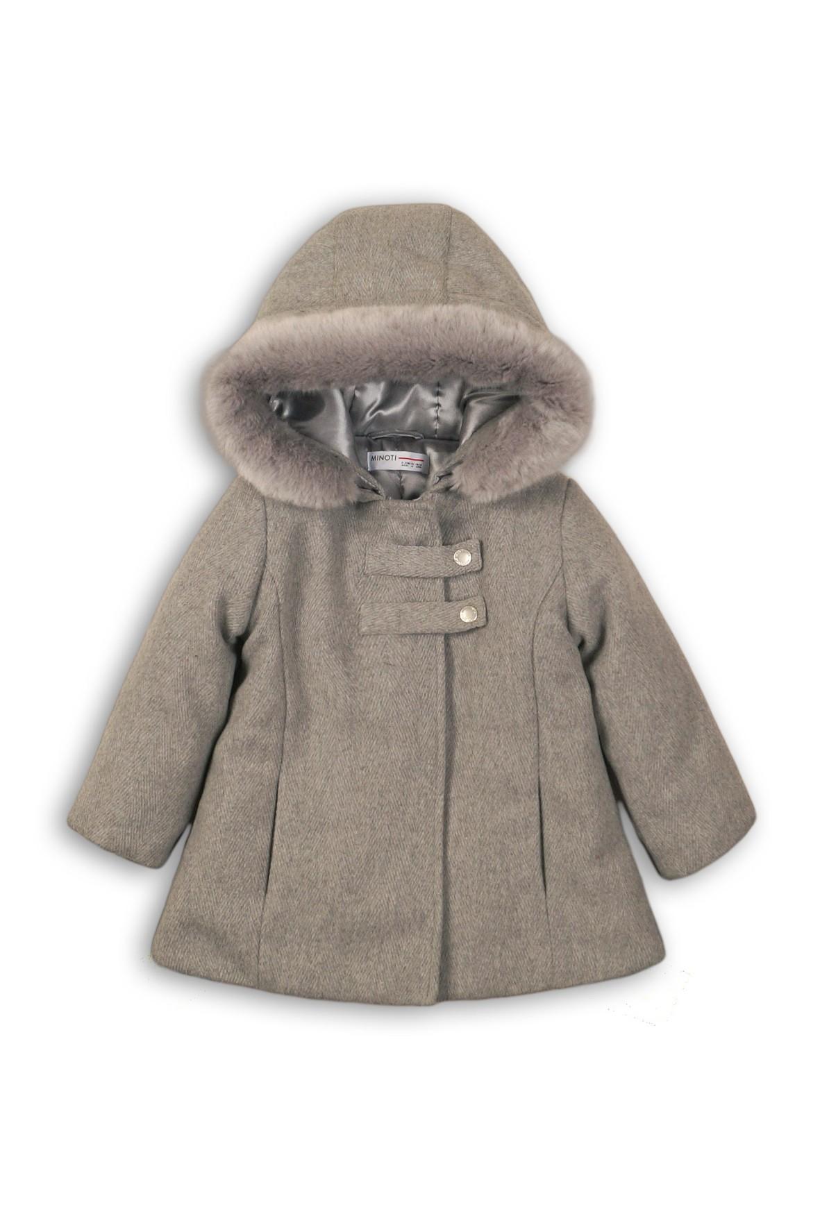 Szary płaszczyk dla niemowlaka
